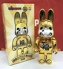 Medicom R@bbrick 2018 Skytree 400% Rabbrick Daruma Gold Bearbrick Be@rbrick 1pc