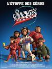 Affiche 120x160cm LES CHIMPANZÉS DE L'ESPACE (Space Chimps) 2008 De Micco TBE