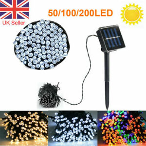 50/100/200 LED Solar Fairy Lights String Outdoor Party Garden Wedding Xmas Light