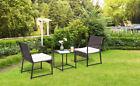 3pcs Garden Sofa Patio Armchair Table Outdoor Rattan Wicker Rocker Furniture Set