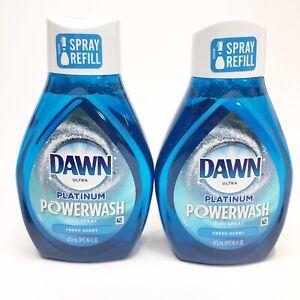 Dawn Platinum Powerwash Dish Spray Fresh Scent Refill 16 fl oz PACK OF 2