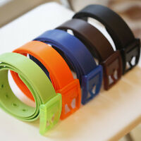 Unisex Rubber Vinyl Plastic Silicone Casual Belt With Buckle One Size Fits All