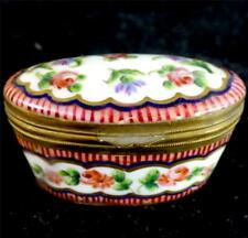 ANTIQUE FRENCH SEVRES STYLE PORCELAIN SNUFF BOX