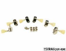 NEW Kluson NICKEL PEARL 3x3 TUNERS for Gibson Vintage Double Ring SD90SLN DRSL