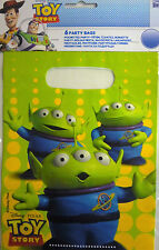 6 x Toy Story 'Aliens' Party Loot Gift Bags. Free UK Postage