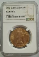 1967 Great Britain Penny NGC MS65 RD [KM#897] BU