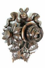 More details for antique treen beautiful hardwood carving 19th c. decorative adornment pediment