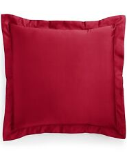 Charter Club Euro Pillow Sham Damask Solid 550 TC Cotton Pomegranate G2216