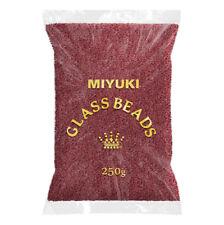 Miyuki Wholesale 15/0 Beads 15-1554 Sparkle Maroon Lined Crystal 250g (N68/1)