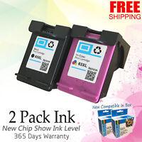 2PK 63 XL Ink Cartridge Combo Set For HP Officejet 3830 3831 3832 3834 4650 4652