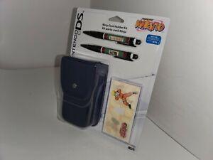 NEW NARUTO Ninja Case 2 Stylus Holographic Skin wrap Decal Nintendo DS Lite 17A