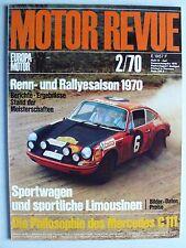 Zeitschrift Motor Revue Heft 74 2.1970 mit Mercedes C 111, Mario Andretti