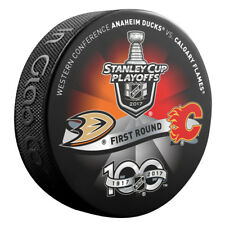 2017 ANAHEIM DUCKS vs CALGARY FLAMES Stanley Cup Playoff Hockey Puck