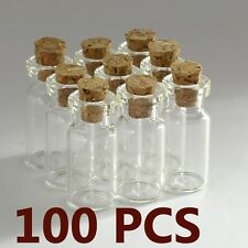 100PCS 2ML Small Bottle Empty Sample Vials Clear Glass Bottles With Corks Jars
