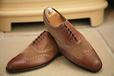 Barker Hand Crafte Collection Men's Made In England Tan Leather Shoes UK 8.5