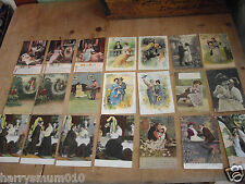Postcards story love song poem collection x 21 c 1910 -1915