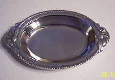 hacienda real hr polished silver tone pewter mint nut candy dish tray handles - Decorative Trays