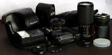 Mamiya ZM 35mm Film SLR c/w 50mm, 80-205mm Lenses, TC, Flash, Motor & Case Kit