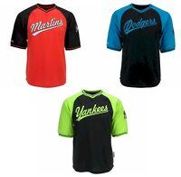 NEW MLB V-Neck Jersey Top Shirt Los Angeles Dodgers Miami Marlins Yankees