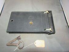 VTG Antique Rim Lock Door Lock w/ Jack Knife Key w/ Keeper Norwalk Lock Co 1880
