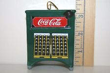 Enesco Ornament - Coca Cola Machine - Coke - Green - Ceramic