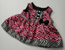 BUILD-A-BEAR BABW CLOTHES HARAJUKU HUGS PANDA BEAR PINK BLACK STRIPED DRESS ONLY
