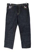 Mens Jeans Black WASH Never Worn HIP Hop Baggy SIZE 38x35