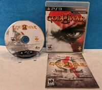God of War III (Sony PlayStation 3, 2010) with Manual - Tested & Working