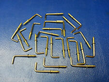 "25PC 1"" L Hook Brass Coating Cup RV Tool Lighst Plant Hanger Screw In F-SHIP"