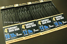 "Guru 4"" Pre-Tied Barbless Method Hair Rigs With Bayonets"