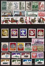 17T4 POLOGNE 35 timbres obliterés, petites series sur sujets divers
