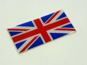 QTY 2 GREAT BRITAIN UK UNION JACK FLAG JDM CONSOLE FENDER DASH EMBLEM BADGE PAIR