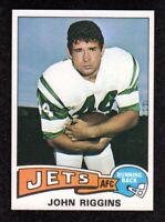 """1975 Topps #313 John Riggins New York Jets HOF Football Card  """"mrp""""  NM/MT+"""