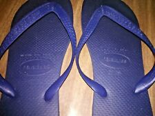 Havaianas Sandal Shoes Brazil Flip Flop Blue Sandals size 10