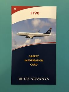 US AIRWAYS SAFETY CARD-- E190