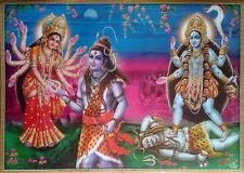 "Lord Shiva, Parvati * Durga, Kaali Kali Maa - POSTER (Large Size: 28""x20"")"