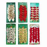 48 Schleifen S rot gold silber Weihnachten Weihnachtsschleifen Christbaum