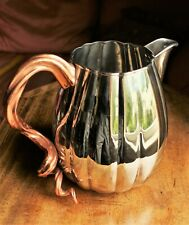 Michael Arum Gourd and Vine 16 Ounce Stainless Steel and Copper Plate Pitcher