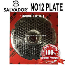 Salvador No12, 3mm Mincer Grinding Plate. Stainless Steel. 100% Genuine.