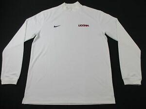 UConn Huskies Nike Long Sleeve Shirt Men's White Dri-Fit Used Multiple Sizes