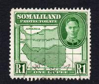 Somaliland 1 Rupee Stamp c1942 Used  (1644)
