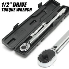 3PCS 1/2'' Drive Torque Wrench Adjustable Micrometer 28-210Nm Hand Spanner Tool