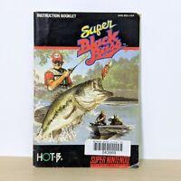Super Black Bass SNES Super Nintendo Original Instruction Booklet Manual