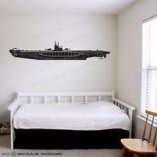 Kriegsmarine U-Boat Type VII Submarine Wall Art Vinyl Sticker World War 2 Decal
