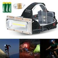 30W LED COB USB Rechargeable 18650 Headlamp Fishing Flashlight Torch Nice