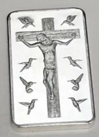 Jesus 10 Commandments Silver Bar God Religion Cross Holy Trinity Spirit Easter