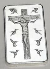 Jesus 10 Commandments Silver Bar God Religion Cross Holy Trinity Spirit Rosary