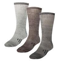 3 Pairs Thermal 80% Merino Wool Socks Hiking Crew Winter Men's Women's Kid's