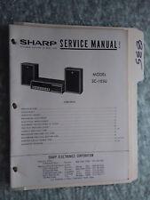 Sharp SC-103U service manual original repair book stereo receiver tuner radio