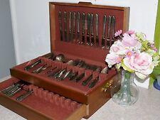 1932 Community Oneida Lady Hamilton Silverplate Flatware Wood Storage Chest Box